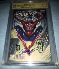 Amazing Spider-Man #1 J.scott Campbell Variant CBCS 9.8 SS Signed 3 Times
