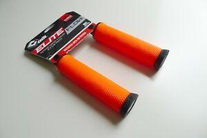 ODI Elite Flow V2.1 MTB Lock On Bike Handlebar Grips 130mm - Orange/Black - NEW