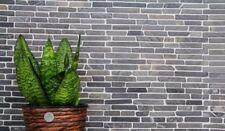Mosaïque carreau marbre naturel pierre noire Brick Marquina 40-0125_b   1 plaque