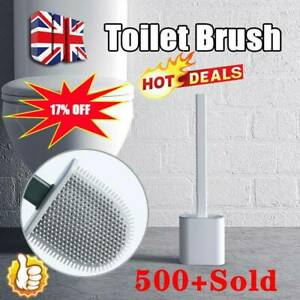 Silicone Toilet Brush with Toilet Brush Holders Creative Cleaning Brushs Set HOT