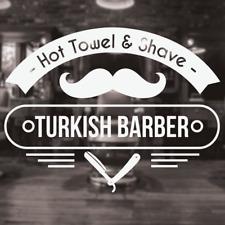 Turkish Barber Shop Sign, Barber shop window decal, Turkish barber shop sticker