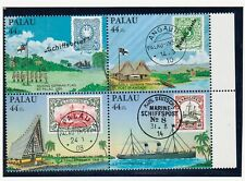 PALAU Sc C6-9+C9a NH issue of 1985 - STAMPS-ON-STAMPS