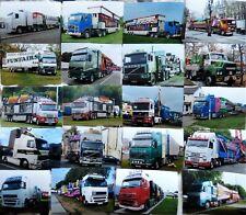 36 x FAIRGROUND RIDE Truck Lorry Transport PHOTOGRAPHS - VOLVOs Artics funfair