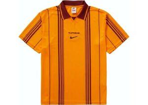 Supreme/Nike Jewel Stripe Soccer Jersey ORANGE XL