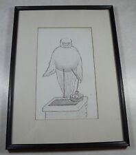 Whimsical Vintage Dr. Stork Drawing Obstetician OBGYN