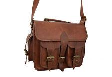 "Leather DSLR Camera Bag Messenger iPad/Tab Satchel Handbags Crossbody Small 11"""