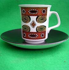 Meakin J & G Maori Coffee Cup & Saucer Retro 60s 70s Brown Studio 2