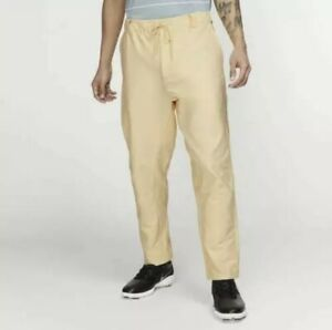Nike Golf Flex Men's Dri-Fit Yellow Pants AV4123-294 Size 36 Retail $85