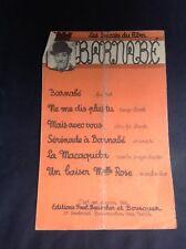 Partition - Fernandel - Barnabé - P1