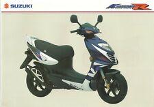 Suzuki AY50 Katana GB Sales Brochure AY50WR AY50WRK5 Katana R GSXR paint 2005