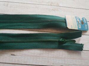 Fermeture éclair glissière zip metal 40cm vert foncé N.Separable REF.N12