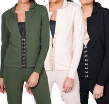Polyester Regular Size Cropped Coats, Jackets & Waistcoats for Women