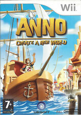 ANNO - CREATE A NEW WORLD for Nintendo Wii - with box & manual - PAL
