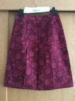 Ness Ladies Red Tapestry Floral Midi Skirt - Size 12 - New RRP £44.99