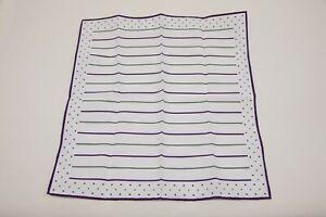NWT Brunello Cucinelli Mens 2-Tone Stripe + Polka Dot Print Pocket Square  A201