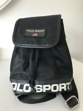 9f2412a6b5 Vintage Ralph Lauren Polo Sport Backpack Black Small Mini Bag Rucksack  Festival