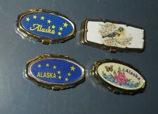 LOT OF 4 ALASKA & BIRD PILL BOX COMPACT STYLE