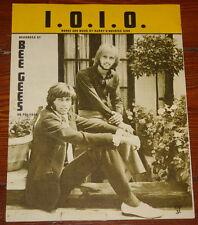THE BEE GEES ~ I.O.I.O. ~ VERY RARE ORIGINAL UK SONG MUSIC LYRIC SHEET 1970