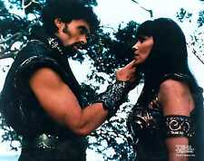Xena Photo Club June 2000 Jun 00 8x10 photograph Ares talks to Xena about curse