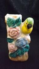 Vintage 1950's 3 3/4 Inch Parrot Vase Colorful Made In Japan Porcelain