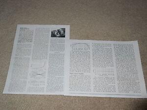 Marantz model 7 Preamp, Model 5 Amplifier REVIEW, 2 page, 1959, Specs, Info