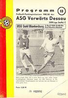 DDR-Liga 81/82 ASG Vorwärts Dessau - BSG Stahl Blankenburg  04.04.1982