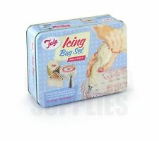 Tala Cake Icing Bag Set in Tin with 8 Nozzles & Icing Booklet