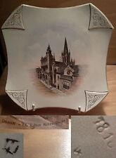 ancienne assiette souvenir de Dijon église notre dame art nouveau début XX ème