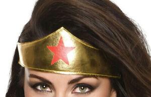 Women's Wonder Woman Fabric Tiara Headband Costume Accessory