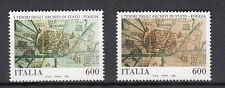 VVARIETA' 1993 ITALIA MNH** TESORI ARCHIVI STATO IN COLORE VERDE INVECE MARRONE