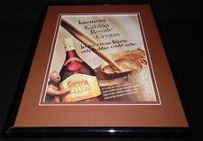 1995 Kahlua Royale Cream Liqueur 11x14 Framed ORIGINAL Vintage Advertisement