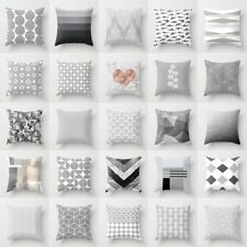 18'' Grey Geometric Throw Cover Pillow Cushion Square Case Home Decor Dazzling