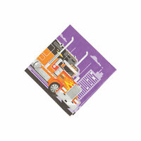 Cars & Trucks Beverage Napkins - Party Supplies - 16 Pieces