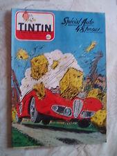TINTIN NO 477-12/1957- COVER ET RC J.GRATON-SP AUTOS-VESPA 400-SIMCA-PUB DINKY