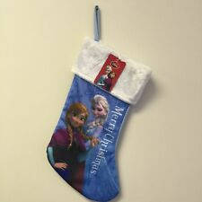 "NEW, Disney Frozen Princess Anna Elsa 18"" Christmas Stocking with Fur Cuff"