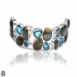 Labradorite Blue Topaz Bracelet B4108