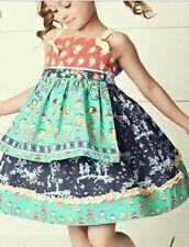 Matilda Jane Hello Lovely Gelato Knot Dress Sz 2 Reversible Apron