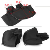 Saddlemen Engine Guard Soft Lower Chaps with Pouch Black 713LS8