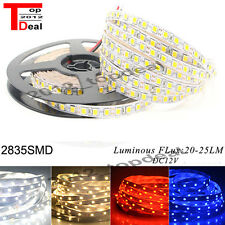 16Ft 5M White Yellow 120LED/M SMD 2835 600LEDs Strip DC12V Super Bright