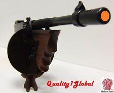 SALE NEW REAL METAL WOOD REPLICA TOMMY GUN THOMPSON Sub machine Gun MOVIE PROP