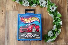 Hot Wheels 100 Car Carrying Case Suitcase w Retractable Handle lot of 34 cars