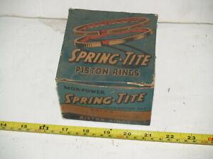 "NOS Continental Spring Tite Piston Rings 1934-1936 Chevrolet 6 - 3 5/16"" - .030"