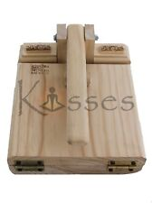 "New Mexico Manual Tortilla Press Maker Pine Wood Corn Gorditas Bunuelos 9.5""X11"""