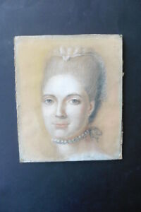 FRENCH SCHOOL 18thC - FINE PORTRAIT OF A LADY ATTR. NONOTTE - PASTEL DRAWING