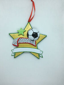 Personalised Ornaments - Soccer, Baseball and Swimming