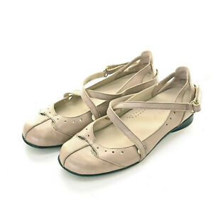 Ziera Womens Casual Beige Leather Shoes Size 38.5 W / AU 7.5  in Good Condition