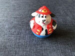 Weebles Weebleville Fireman Figure - Zeebo Weebitty Dog Dalmatian Firefighter
