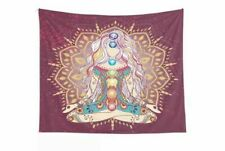 Chakras Tapestry Religion Yoga Mandala Tapestries Wall Hanging Art Room Decor