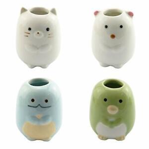 Mini Toothbrush Holder 4PCS Cute Animal Ceramic Mini Tooth Brush Holder Stand