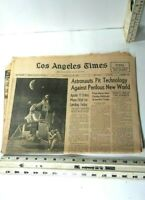 "Rare Vintage Los Angeles Times -- ""Enters Moon Orbit"" -- Monday July 21, 1969"